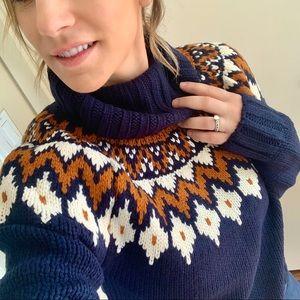 🆕 | fallin' fair isle turtleneck sweater |